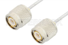 TNC Male to TNC Male Cable 24 Inch Length Using PE-SR405FL Coax, RoHS -- PE3684LF-24 -Image