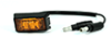 Maxxima M09360Y-X LED Clearance Marker Light, 12V, Red/Clear LED Lights, Polycarbonate Housing -- 48007 -Image