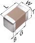 Multilayer Ceramic Chip Capacitor -- C0402C0G1C010C020BC - Image