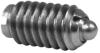 Short Spring Plunger / Heavy End Force - Stainless Steel Body, Delrin® Nose: 10-32 Thread, End Force = 1.75 Initial x 6.25 Final with Locking Element -- 53421 - Image