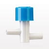 Trac™ Valve In-Line, White with Blue Button, both Male Luer Slips
