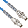 Plenum Cable Assembly TRB Non-Insulated Bulk Head 3-Lug Cable Jack to Jack with Bend Reliefs MIL-STD-1553 .242