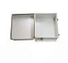 14x12x07 Fiberglass Reinf Polyester FRP Weatherproof Outdoor IP66 NEMA 4 Enclosure, Modified Base Gray -- TEF141207-02 -Image