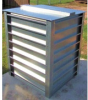 Living Rainwater Tanks - Rain Harvester 350 - Galvanized -- LRW-RH350G