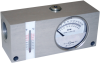 Reversible Inline Flow Indicator With Temperature Sensor, RFI Series, Up to 54 GPM