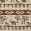 Deer Scenic Chenille Stripe Fabric -- R-Sutherland - Image