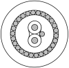 Profibus PA, 1PR #18 Str TC, PO ins, OS, LSNH Jkt, 300V SWA -- 3076ELS - Image