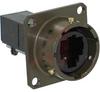 connector,metal circular panel mount receptacle,female rj11,bayonet mating,green -- 70026534