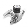 Block & bleed valve - male Quick-test inlet x male Quick-test outlet, S.S. -- QTHA-BLS0-HH
