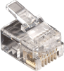 50-Pack RJ11 Unshielded Modular Plug 6-Wire -- FMTP611-50PAK -- View Larger Image