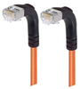 Category 5E Shielded Right Angle Patch Cable, Right Angle Down/Right Angle Down, Orange 25.0 ft -- TRD815SRA3OR-25 -Image
