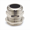 Dome-Cap™ Strain Relief Connectors -- Nickel-Plated Brass Dome Cap Connectors with Metric Threads