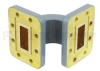 WR-90 Waveguide E-Bend Commercial Grade Using CPR-90G Flange With a 8.2 GHz to 12.4 GHz Frequency Range -- SMF90EBA - Image