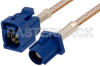 Blue FAKRA Plug to FAKRA Jack Cable 36 Inch Length Using RG316 Coax -- PE38756C-36 -Image