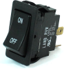 E-Switch Rocker Switch 20A 125VAC DPST Off-On Black RVW42D1123 -- 43304 -Image