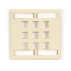 9-port Ivory Double-Gang Keystone Wallplate -- WPT484 - Image