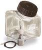 Square Polycarbonate Reservoir with Low Level Switch, 1 qt -- B2747-16-S03 -Image