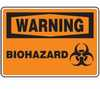 Safety Sign, Warning - Biohazard, 10
