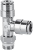 Brass Push-in Fittings - BSP/Metric Size -- S6440 4-1/8 - Image