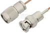 TNC Male to BNC Male Cable 36 Inch Length Using RG178 Coax -- PE39255-36 -Image