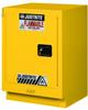 Justrite 15 gal Yellow Hazardous Material Storage Cabinet - 24 in Width - 35 3/4 in Height - Floor Standing - 697841-12054 -- 697841-12054