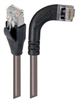 Shielded Category 6 Right Angle Patch Cable, Straight/Right Angle Right, Gray, 7.0 ft -- TRD695SRA7GRY-7 -Image