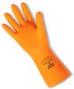 Orange Heavyweight; Orange, diamond- embossed, flock-lined, 29 mil, 13