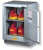 Justrite 15 gal Silver Hazardous Material Storage Cabinet - 24 in Width - 35 3/4 in Height - Floor Standing - 697841-13081 -- 697841-13081