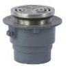 Floor Drain with Round Heavy Duty Stainless Steel Strainer -- FD-1200-B -- View Larger Image
