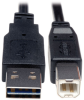 Universal Reversible USB 2.0 Cable (Reversible A to B M/M), 1-ft. -- UR022-001 - Image