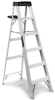 LOUISVILLE Type 1A Aluminum Ladders with Pail Shelf -- 3366500