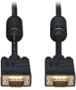 VGA Coax Monitor Cable, High Resolution cable with RGB coax (HD15 M/M) 20-ft. -- P502-020