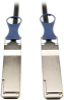 QSFP+ to QSFP+ 40Gb Passive DAC Copper Infiniband Cable, QSFP-H40G-CU1M Compatible, 1M (3-ft.) -- N282-01M-BK - Image