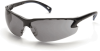 Pyramex Venture 3 Safety Glasses with Black Frame and Gray -- SB5720D