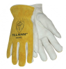 Tillman 1414 White/Gold XL Grain Cowhide Leather Driver's Glove - Keystone Thumb - TILLMAN 1414XL -- TILLMAN 1414XL