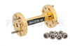 WR-12 45 Degree Right-hand Waveguide Twist With a UG-387/U Flange Operating From 60 GHz to 90 GHz -- PE-W12TW1003 - Image