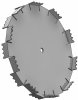 Ultra Shear Dispersion Blade, 14in Dia, 5/8in CH -- USB625014
