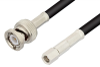 SMC Plug to BNC Male Cable 48 Inch Length Using RG58 Coax -- PE3244-48 -Image