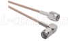 RG316 Coaxial Cable, SMA Male / 90º Male, 3.0 ft -- CCSHR316-3