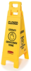 Rubbermaid 2 and 4-Sided Floor Signs with Multi-Lingual Imprints -- 8073 -- View Larger Image