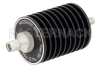 10 dB Fixed Attenuator, SMA Male to SMA Female Black Anodized Aluminum Heatsink Body Rated to 25 Watts Up to 4 GHz -- PE7393-10 -Image