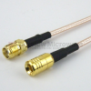SMA Female (Jack) to SMB Plug (Male) Cable M17/113-RG316 Coax Up To 3 GHz, 1.35 VSWR in 12 Inch and RoHS -- FMC1316316LF-12 -Image