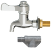 Self-closing, Plain End, Lead-free, Brass Bib Faucet With Polished Chrome-plated Finish -- 6250LF