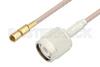 SSMC Plug to TNC Male Cable 12 Inch Length Using RG316 Coax -- PE3C4417-12 -Image