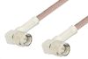 SMA Male Right Angle to SMA Male Right Angle Cable 60 Inch Length Using 95 Ohm RG180 Coax, RoHS -- PE3141LF-60 -Image