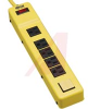Power Strip,Power It! Safety Power Strip w/6 Outlets, OSHA, Yellow, 6 Ft. Cord -- 70101514