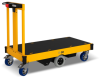 Motorized Platform Cart With Bumpers -- R-Go CP-1HE0001B -Image