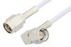 SMA Male to SMA Male Right Angle Cable 12 Inch Length Using RG188 Coax, RoHS -- PE3510LF-12 -Image