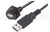 USB Cable, Waterproof Panel Mount Type A Female - Standard Type A Male, 1.0m -- WPUSBAX-1M