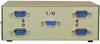 4-Way DB9 Male AB Data Switch Box -- 40D1-23604